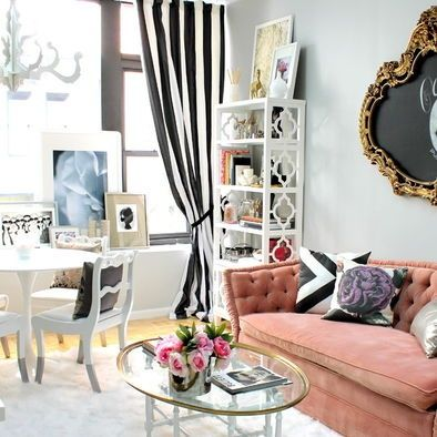 Beautiful Cute French Arisian Decor Living Room Great For A Girly Apartment Or Studio