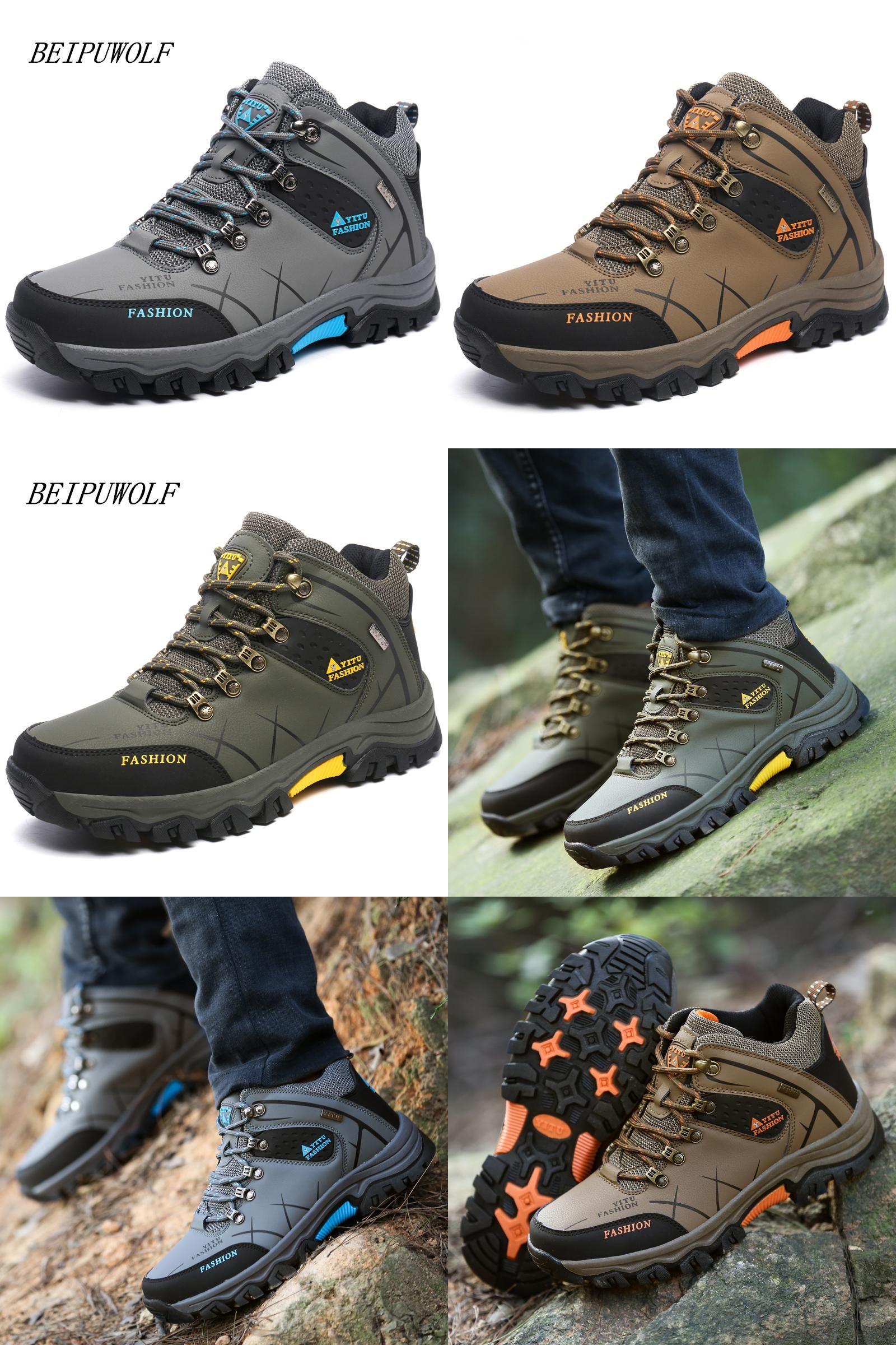 YITU Mens Hiking Shoes Outdoor Trekking