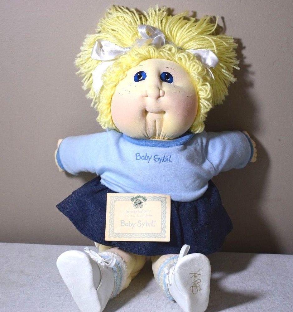 Baby Sybil Sadie Cabbage Patch Soft Sculpture Doll 1988 Nursery Ed Xavier Rober Cabbagepatch Soft Sculpture Dolls Cabbage Patch Babies Cabbage Patch Dolls