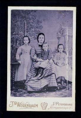 075195 Russia Mom Girls in Victorian Dress Old Cabinet Photo | eBay