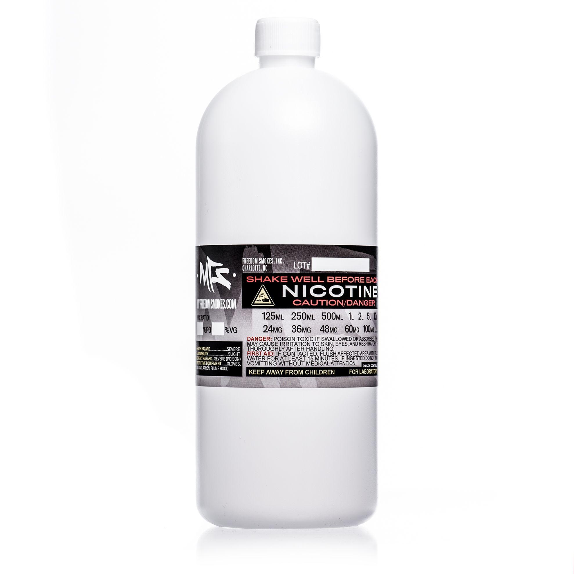 UnFlavored Nicotine E-Liquid Base - 1-Liter Container   liquid