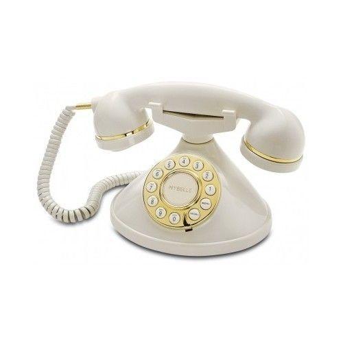Retro Classic Vintage Design Deluxe Telephone Antique Desk Phone Push Button - Retro Classic Vintage Design Deluxe Telephone Antique Desk Phone