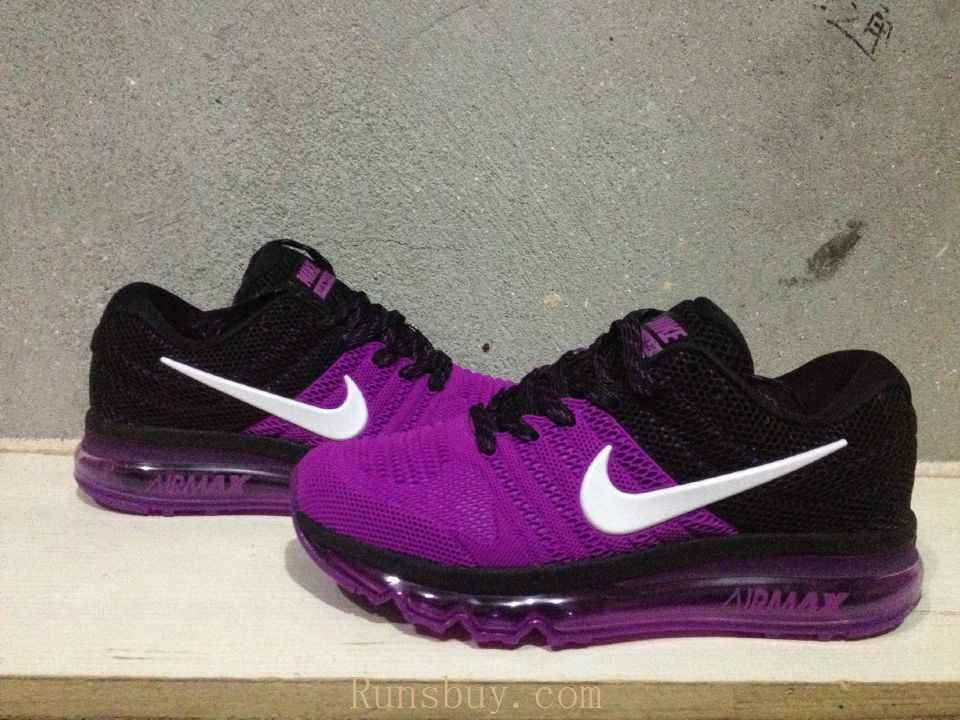 9a37ba6b20f5 New Coming Nike Air Max 2017 KPU Purple Black Women Shoes