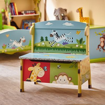 Fantasy Fields Sunny Safari Kids Storage Bench