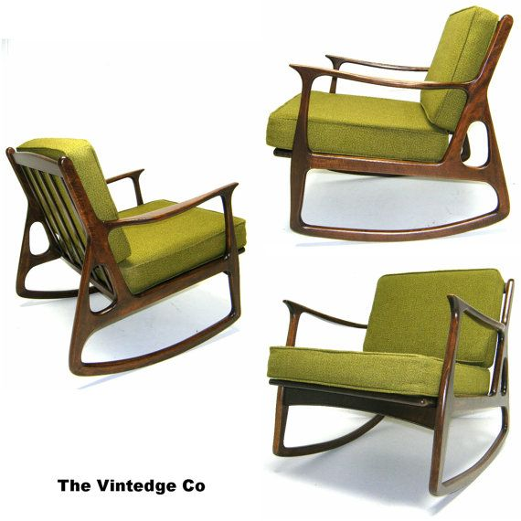 The 50s 60s Vintage Rocking Chair Mid Century Modern Danish