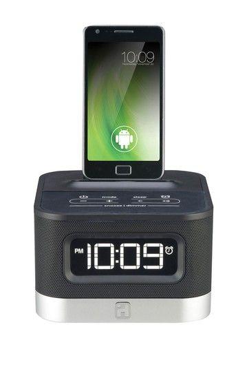 iHome - FM Stereo Alarm Clock Radio Docking Station for