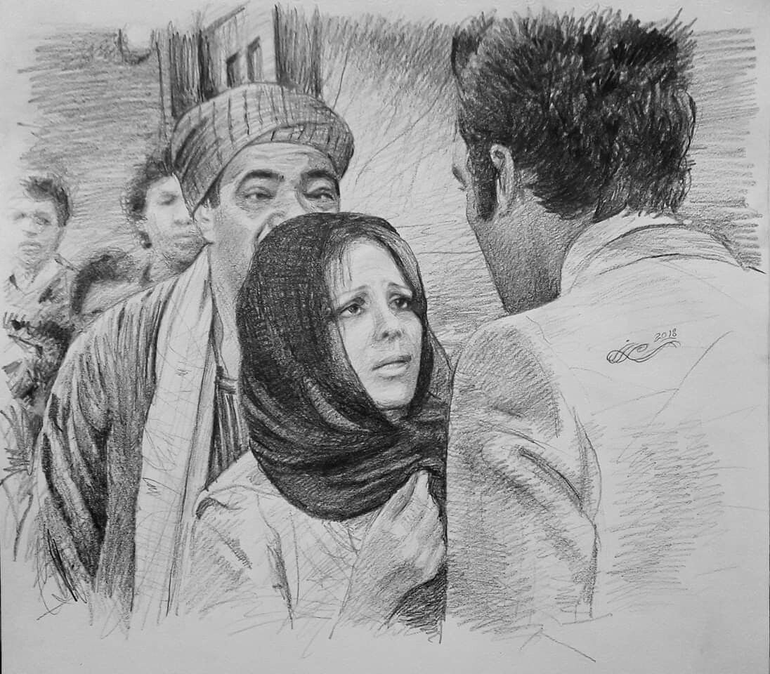 Pin by Walaa Abdel on Pencil drawings | Male sketch ...