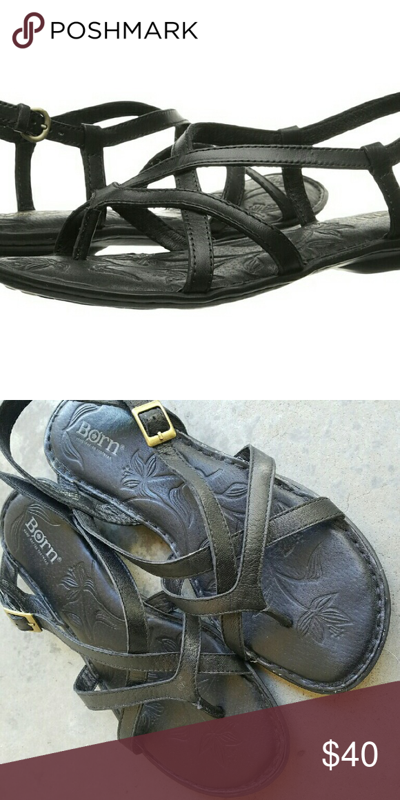 1ddc2ac51b99 Born Mai Sandals Incredibly comfortable Born black flat sandals in size 8.  Excellent used condition
