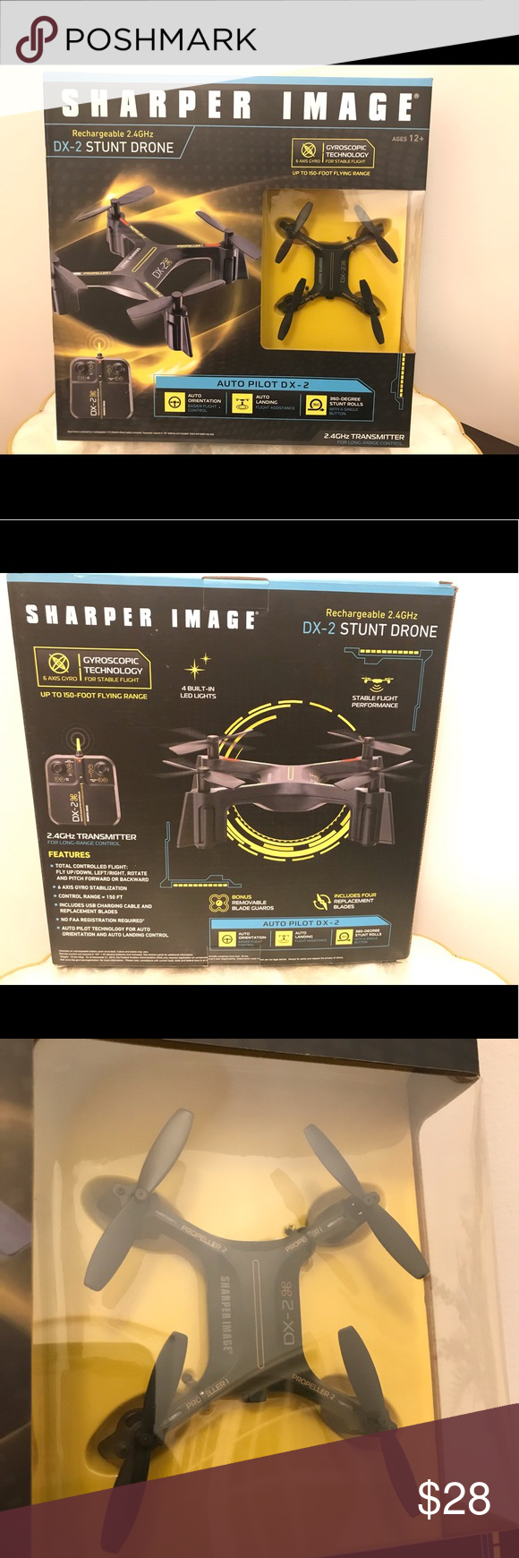Sharper Image Small Stunt Drone Dx 2 New Giftable Nwt My Posh