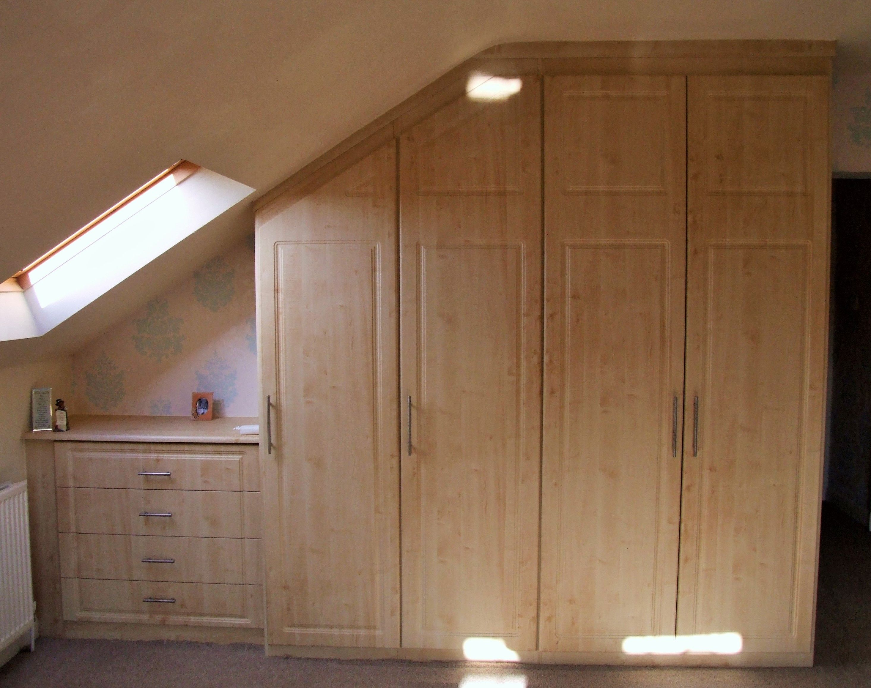 Attic Bedroom Furniture Built Into A Sloping Ceiling Bedroom