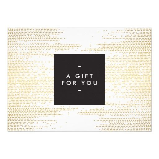 Faux Gold Confetti Dots Pattern Modern Gift Card Pinterest Gift - Store gift certificate template