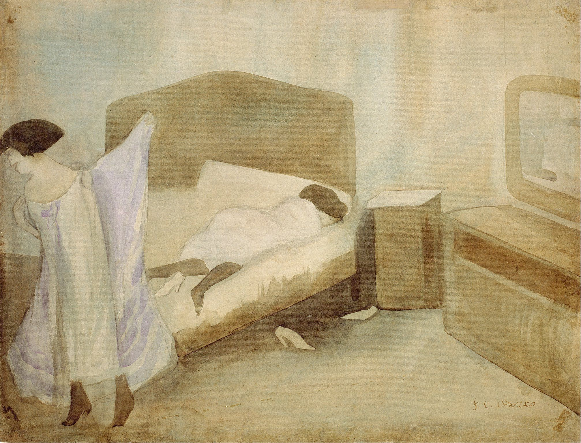 Painting The Bedroom The Bedroom Attributed Jose Clemente Orozco Pinterest The