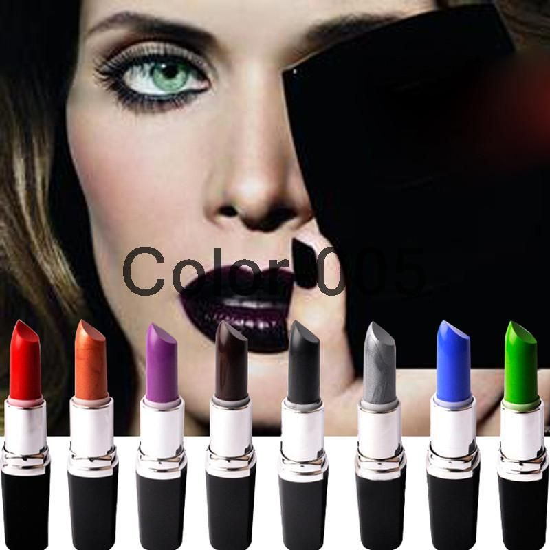 High Quality 8 Colors Lipsticks 3g Brand Makeup Long lasting Matte Lipstick Purple Green Red Vampire Professional Party Batom-in Lipstick from Health & Beauty on Aliexpress.com | Alibaba Group