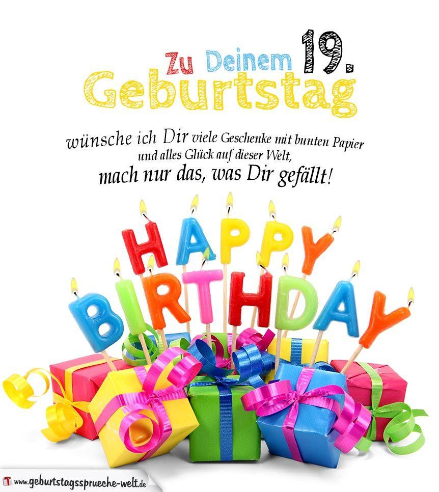 Geburtstagsgrusse Lustig Zum 19 Elegant Geburtstagskarten Zum