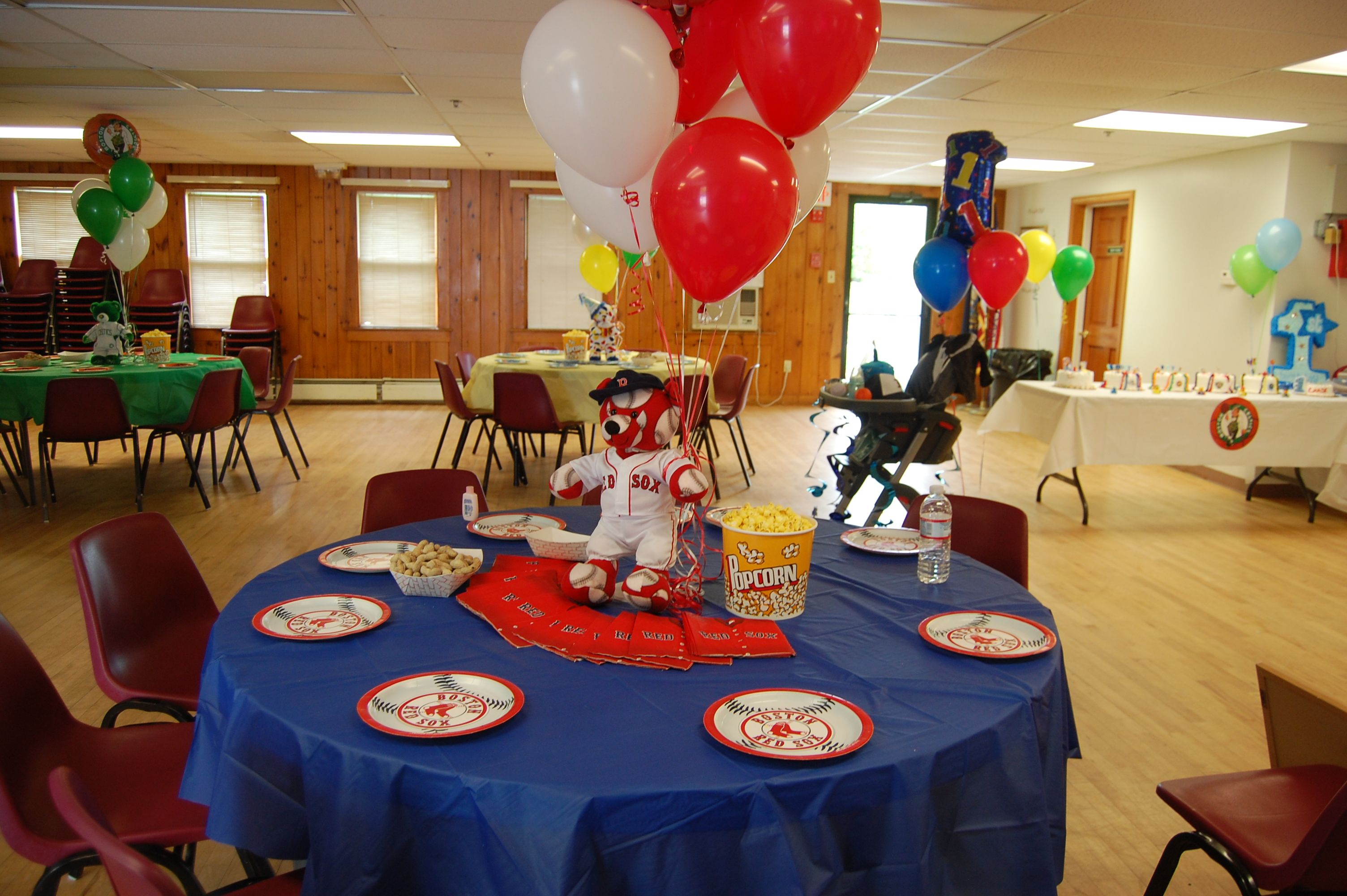 Birthday Party Ideas Boston Red Sox Table