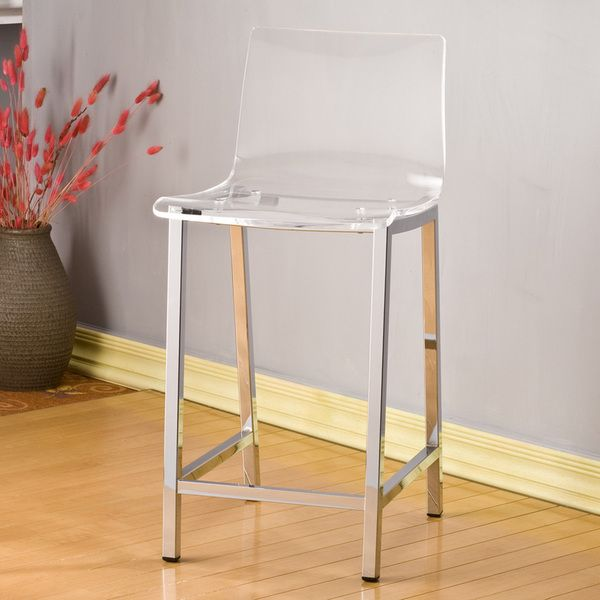 Clear Kitchen Chairs: Pure Decor Clear Acrylic Counter Stool