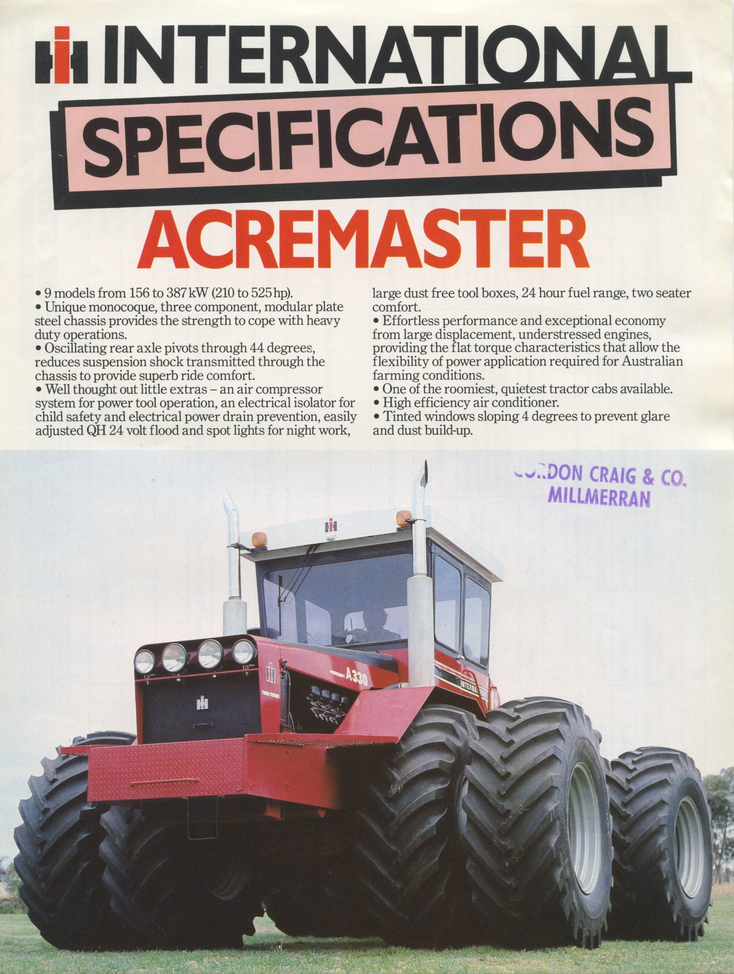 Toytractortimes com brochure of the week international acremaster read more at http