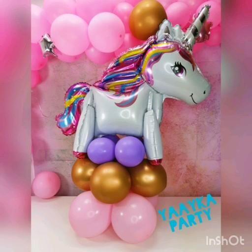 Centro de mesa unicornio