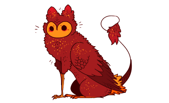 Red Owl Griffin By Snowysaur Creature Drawings Fantasy Beasts Animal Art