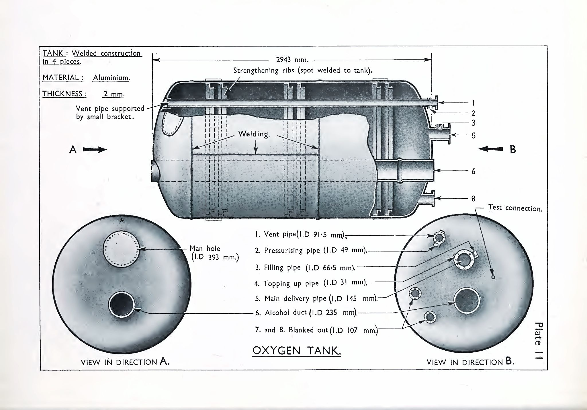 hight resolution of o2 tank of the a4 v2 rocket