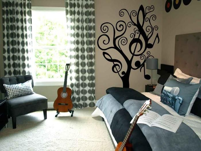 Teenage Girl Music Themed Bedroom