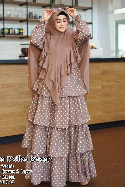 Gamis Syari Muslim Dress Hijab Muslimah Longdress Busui Wolfish