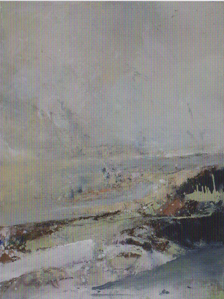 Heinz Göbel, Schwemmland, Öl / Leinwand, 170 x 130 cm, 2011