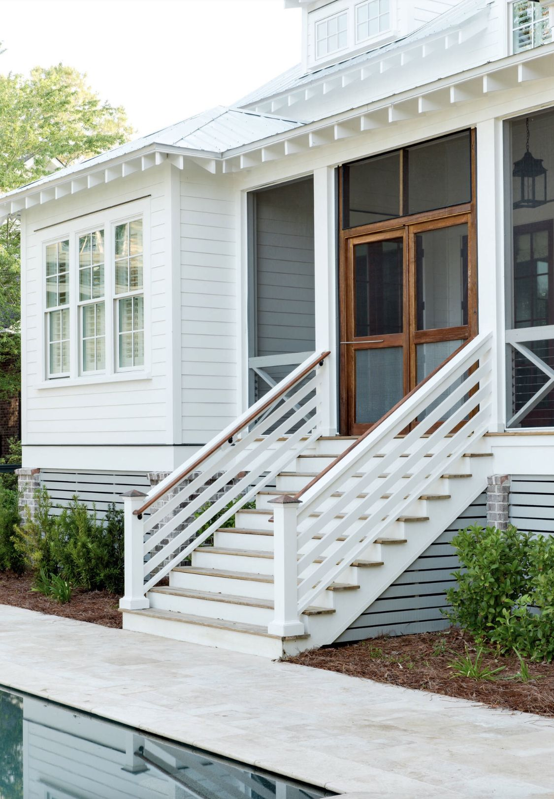A screened back porch House with porch, Porch design