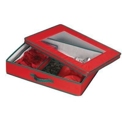 Household Essentials Holiday Tabletop Accessories Storage Chest, Red