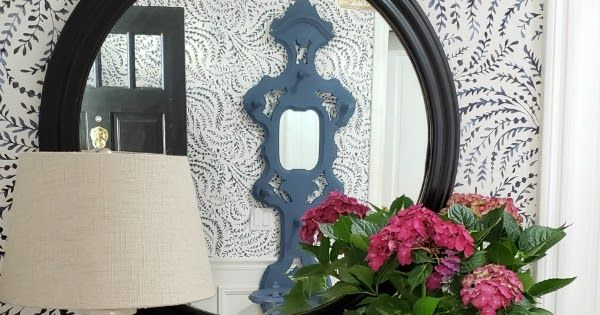Serena & Lily, wallpaper, blue and white decor, Priano
