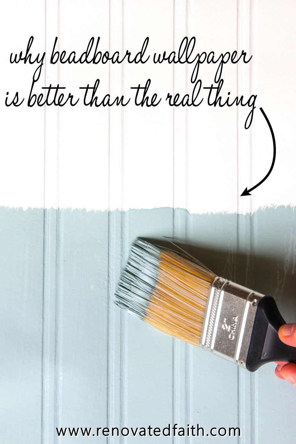 How to Hang Beadboard Wallpaper (Why It's Better than the