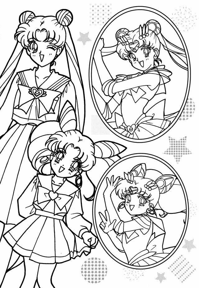 Pin von Akila auf Sailor Moon Ausmalbilder, Bilder zum