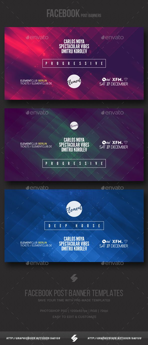 Electronic music party vol6 facebook post banner templates electronic music party vol6 facebook post banner templates pronofoot35fo Image collections