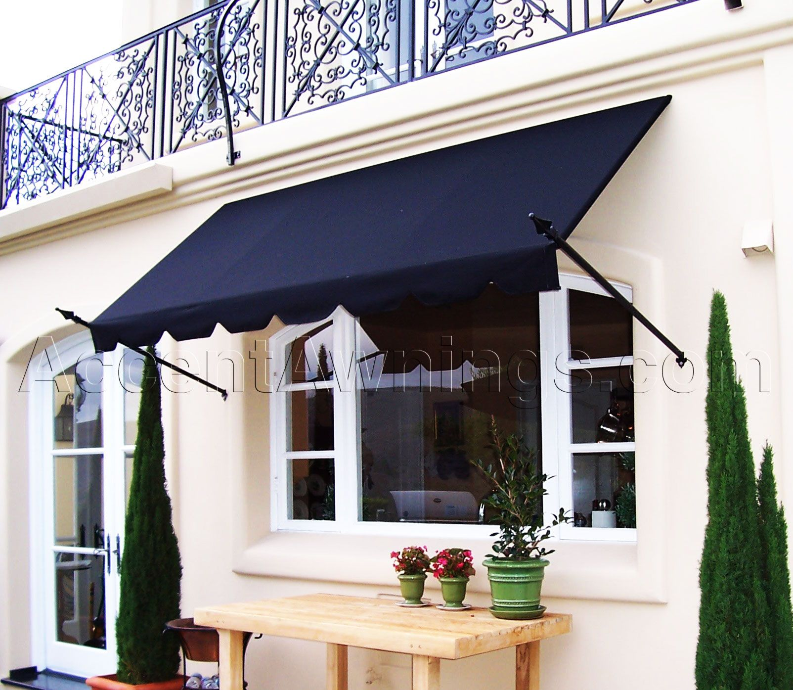 how to clean exterior canvas awnings