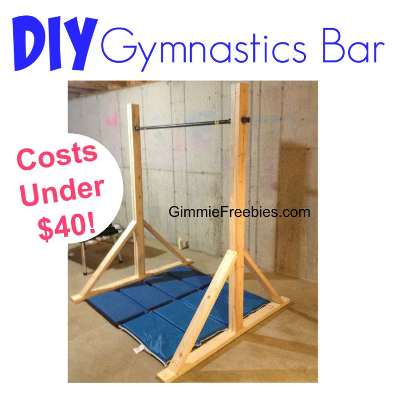 How to make a gymnastic practice mini bar at home under for Sale things from home