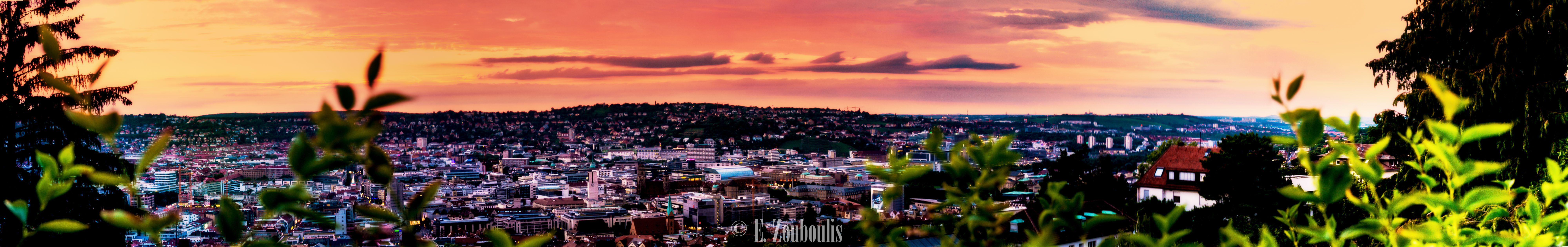 Stuttgart Sunset Panorama