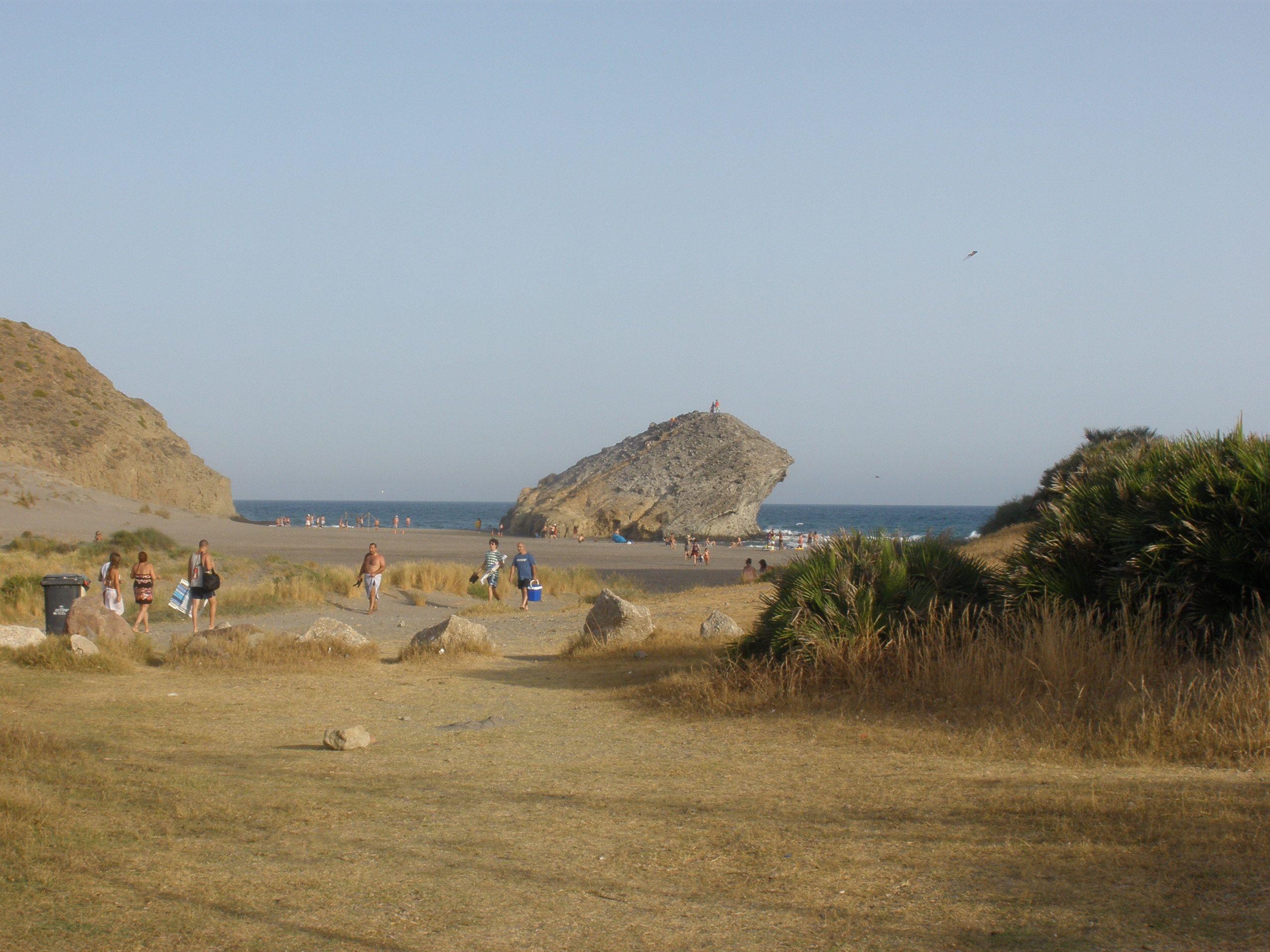 Playa del Monsul, donde se rodó una escena de Indiana Jones, Parque Natural del Cabo de Gata
