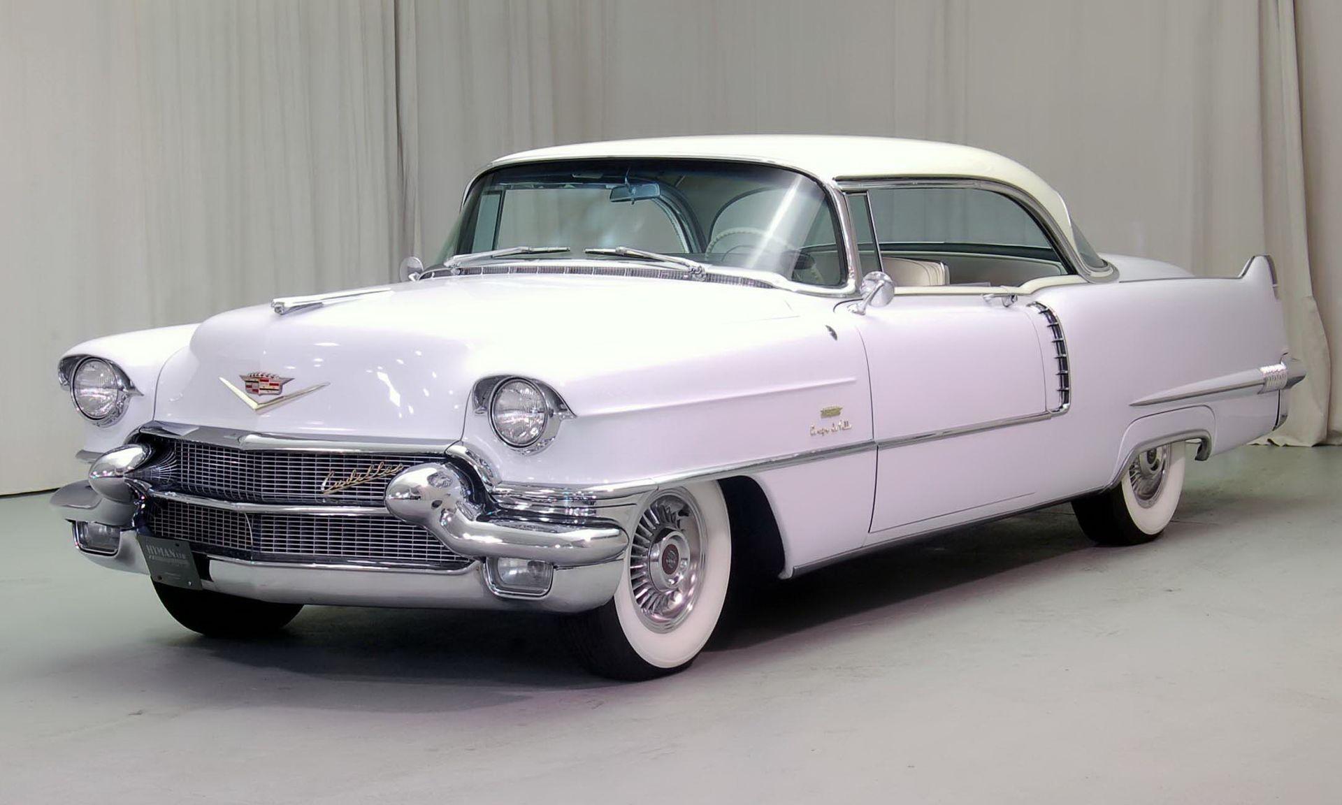 1956 Cadillac Coupe De Ville white cropped