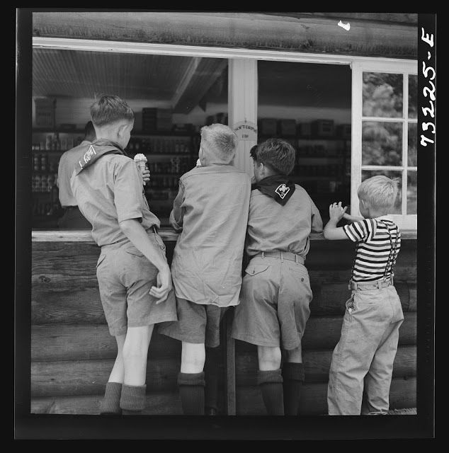 boy scouts eating ice cream historic photographs pinterest eating ice cream