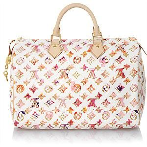 Louis Vuitton Limited Edition Watercolor Aquarelle Speedy 35