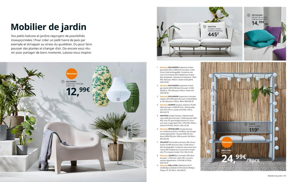 Mobilier De Jardin Catalogue Ikea Printemps 2020 En 2020 Mobilier Jardin Ikea Mobilier