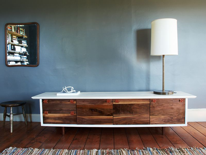 Credenza Peru : A chrome and brass credenza by j robert scott on artnet