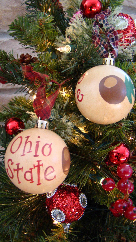 Primative Ohio State Christmas Ornament. Ohio State Buckeyes, Hand ...