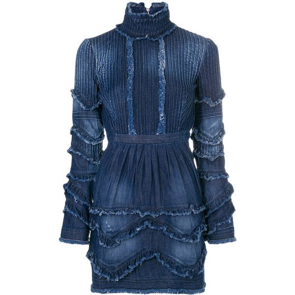 Cheap Sale Best Prices Visit Dsquared2 ruffled denim dress Free Shipping 2018 Unisex YnfRe