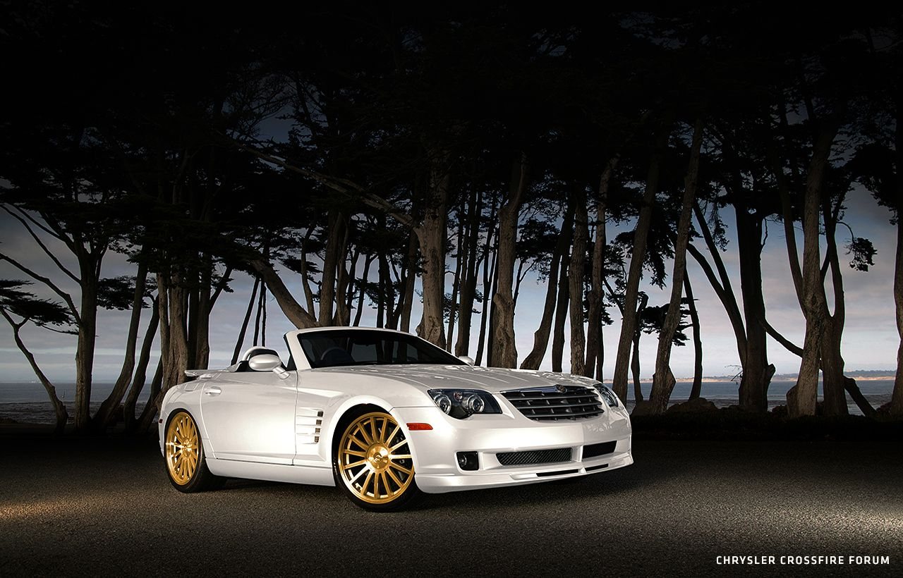 Chrysler Crossfire The White Crossfire Coupe With The Golden