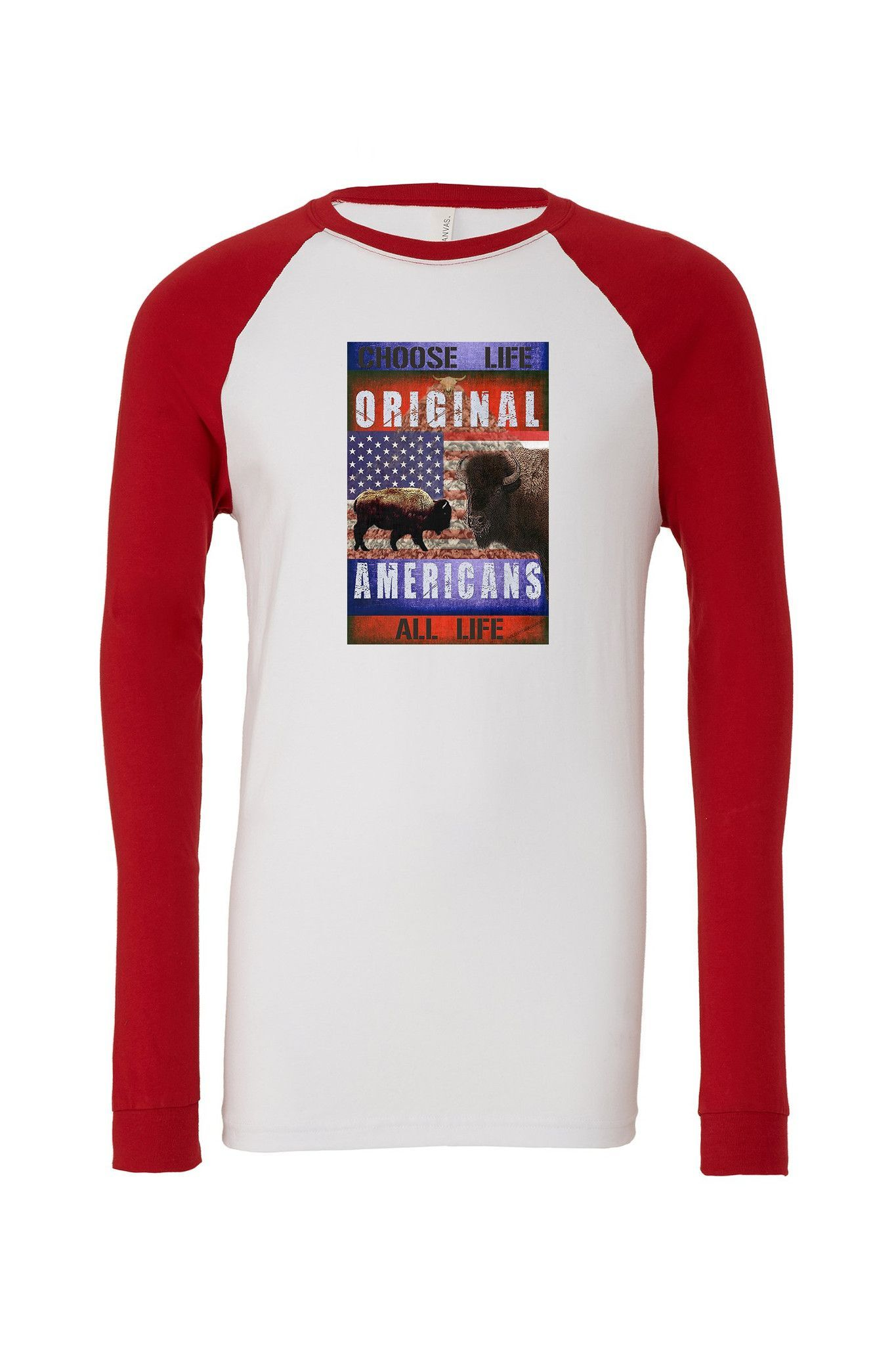 Buffalo: Original Americans Men's Jersey Baseball Tee