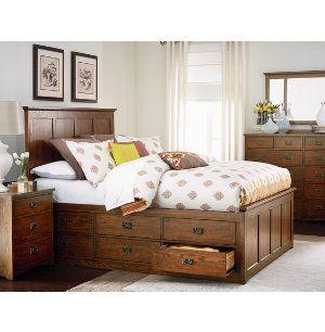 Oak park collection master bedroom bedrooms art van - Bedroom furniture stores michigan ...