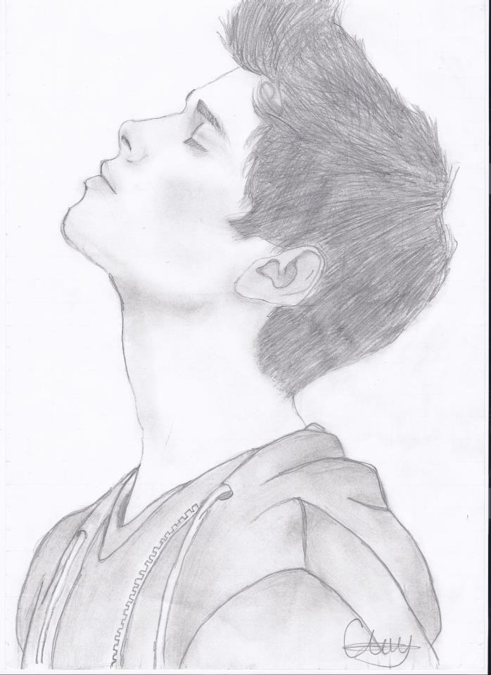 Man Face Drawing Pencil