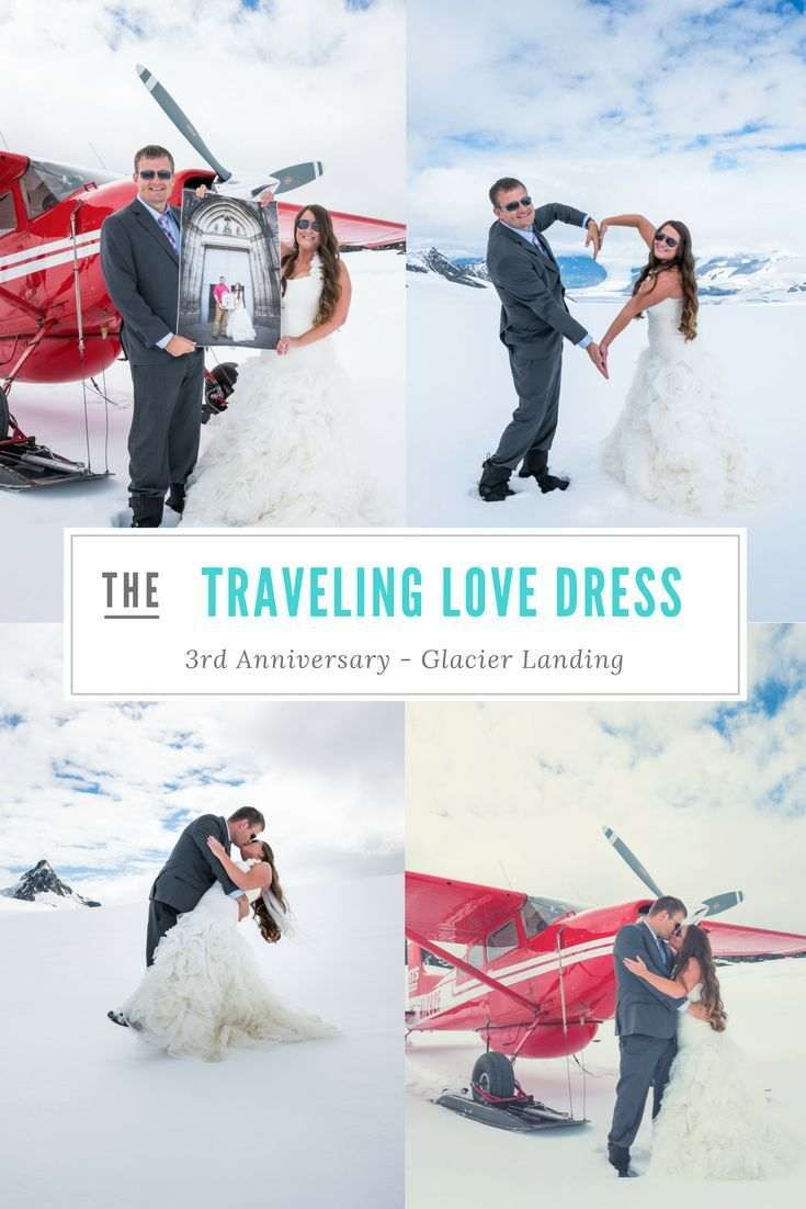 All about our glacier landing in alaska and anniversary pics for our