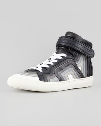 8dc6b2b3732 Multicolor+Layered+High-Top+Sneaker+by+Pierre+Hardy+at+Bergdorf+Goodman.